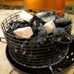 loaded charcoal basket