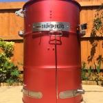 Red Fire Metallic Drum Smoker