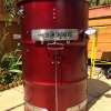 anodized red drum smoker