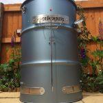 Titanium blue Drum smokers