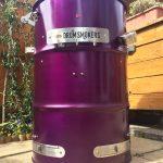 Anodized purple drum smoke