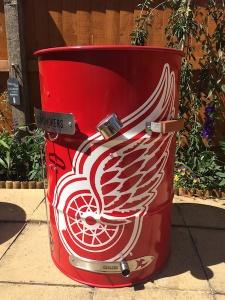 custom red side drum