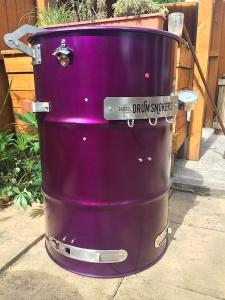 purple drum with hinge side